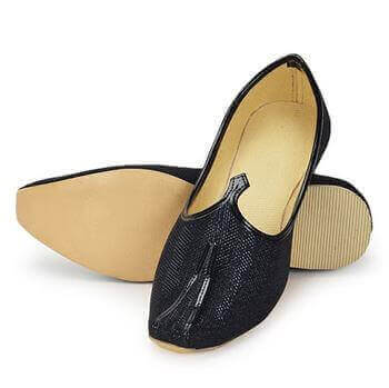 Picture of Ethnic mojaris for men- Black