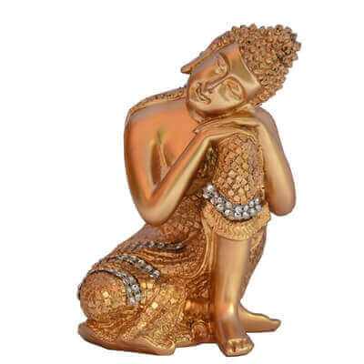 Picture of Gold Dhyan Pose Buddha Statue In Resin