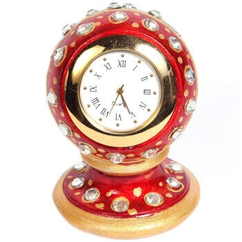 Picture of Marble minakari paper weight clock