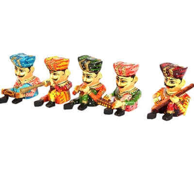 Picture of 5 pieces wooden musician set