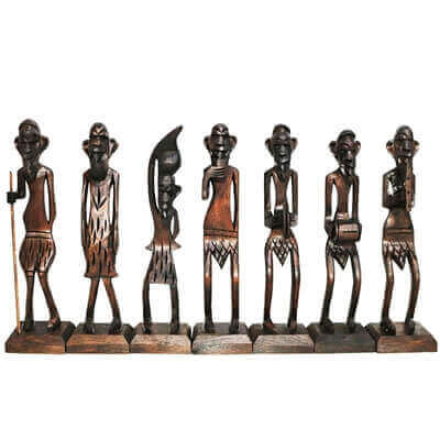 Picture of Wooden Made Tribal Decorative Set