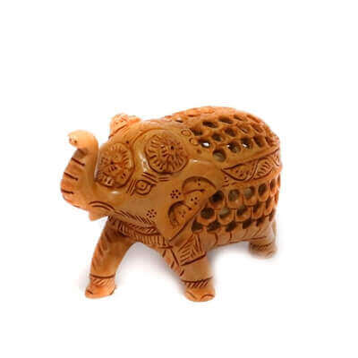 Picture of Uniquely carved out wooden Elephant