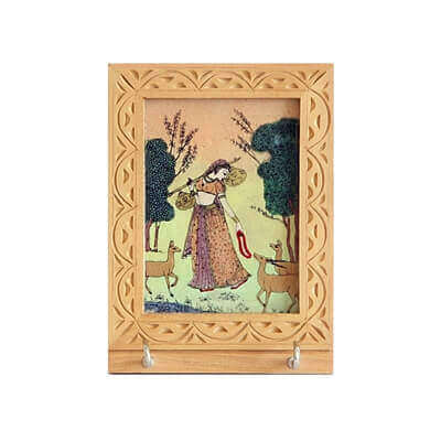 Picture of Wooden gemstone with 2 key holder