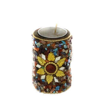 Picture of Colorfully Mottled T-Light Candle stand