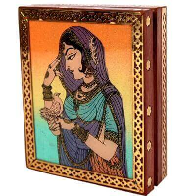 Picture of Aapno rajasthan bani thani gemstone jewellery box