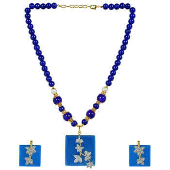 Picture of Monalisa blue pendent set