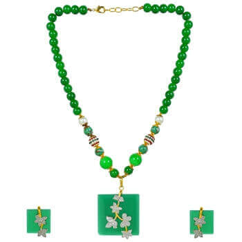 Picture of Monalisa green pendent set