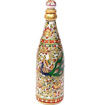 Picture of Meenakari marble champagne bottle