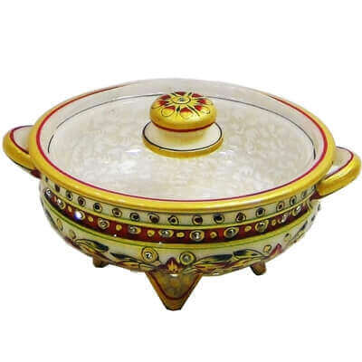 Picture of Marble dryfruit container with marble lid