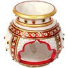 Picture of Decorative Marble Multicolor Candle Pot