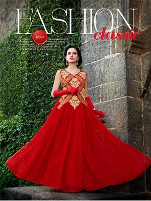 Picture of 10007 Red Wedding Wear Gown