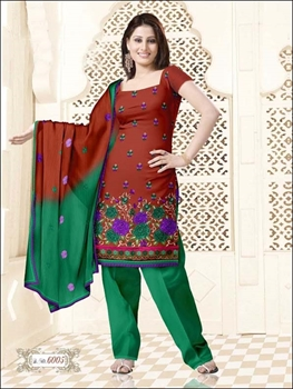 Picture of 6005 Brown and Green Salwar Suit