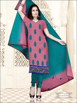 Picture of 6006 Pink and Teal Blue Salwar Suit