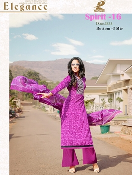 Picture of 3833Magenta and White Plazo Suit