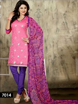 Picture of 7014 Pink Chudidar Suit
