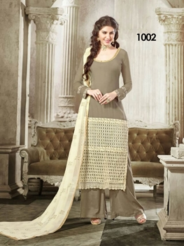 Picture of 1009 Shadow Brown Georgette Designer Suit
