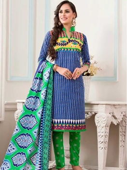 Picture of 3228DarkBlue Designer Fancy Exclusive Daily Wear Salwar Suit