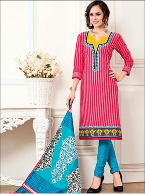 Picture of 3233Pink Designer Fancy Exclusive Daily Wear Salwar Suit