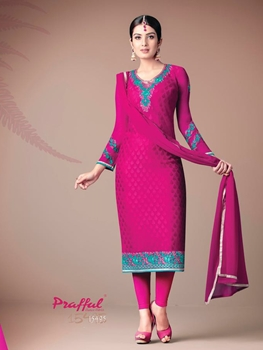 Picture of 15495Magenta Designer Function Wear Straight Suit