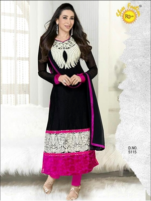 Picture of BOD5115Black and Magenta Straight Suit