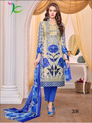 Picture of 208Latest Daily Wear Unstitched Pakistani Suit