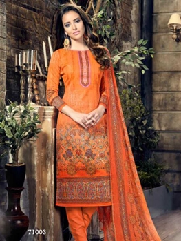 Picture of 71003Fanta Orange Designer Straight Suit