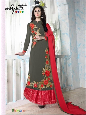 Picture of BOD BHAVYA07 Bistre Brown Designer Palazzo Suit