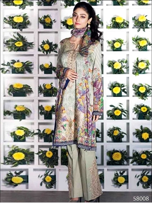 Picture of 58008Pure Cotton Pakistani Style Suit