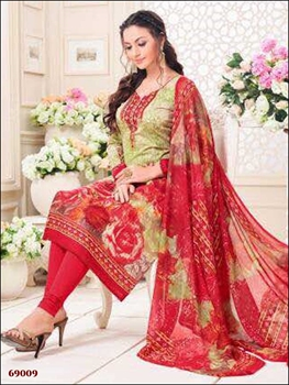 Picture of 69009Designer Pista Green Straight Suit