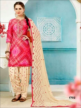 Picture of 1702 Crimson Red and Multicolor Printed Patiala Suit