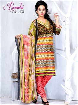 Picture of 007Black and Yellow Printed Salwar Suit