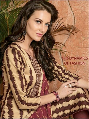 Picture of 008 Beige and Brown Designer Straight Suit
