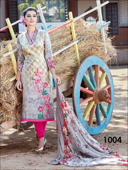 Picture of 1004Beige And Pink Straight Suit