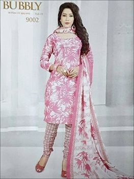 Picture of 9002 Pink Coloured Printed Straight Suit