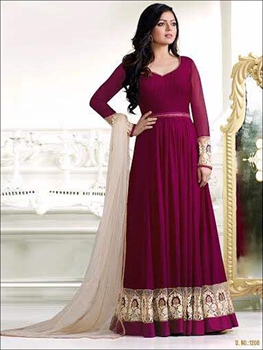Picture of 1208Purple Designer Anarkali Replica