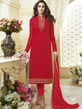 Picture of 1217 Red Designer Straight Suit