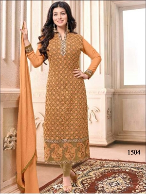 Picture of 1504 Orange Designer Straight Suit