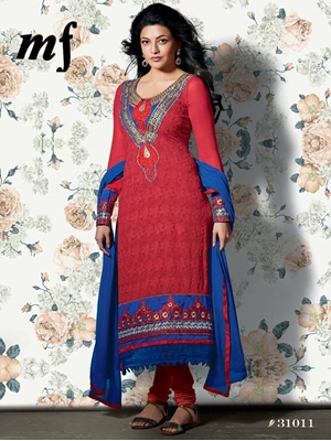 Picture of 31011 Red Designer Straight Suit