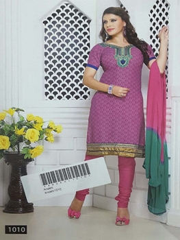 Picture of 1010 Lavender Designer Printed Salwar Suit