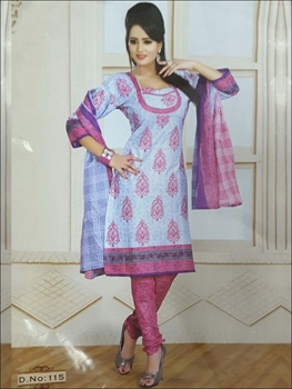 Picture of 115 Lavender Printed Salwar Suit