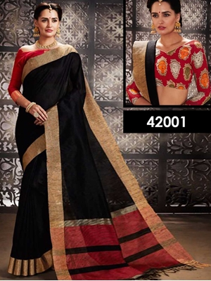 Picture of 42001 Black Designer Function Wear Saree