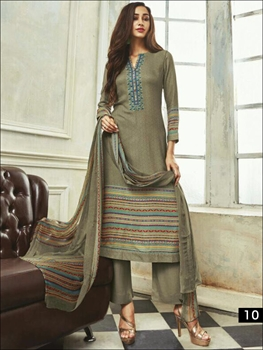 Picture of 10 Grullo Designer Salwar Suit