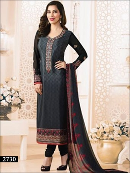 Picture of 2730 Black Designer Straight Suit
