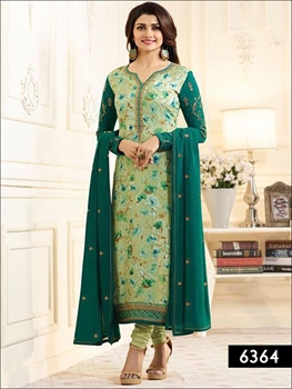 Picture of 6364 Pista Green Designer Straight Replica Suit