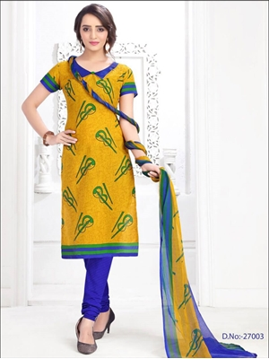 Picture of 27003 Yellow Designer Straight Suit