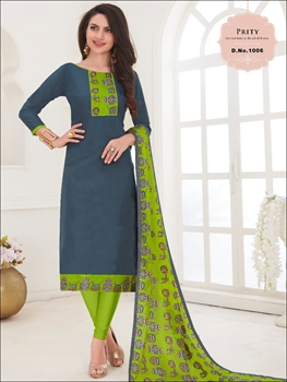 Picture of 1006 Blue Green Designer Salwar Suit