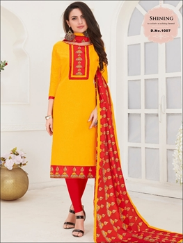 Picture of 1007 Yellow Designer Salwar Suit