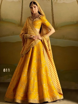 Picture of 811 Mango Designer Wedding Wear Lehenga Choli
