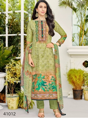 Picture of 41012 Olive Green Designer Straight Suit