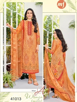 Picture of 41013 Orange Designer Straight Suit